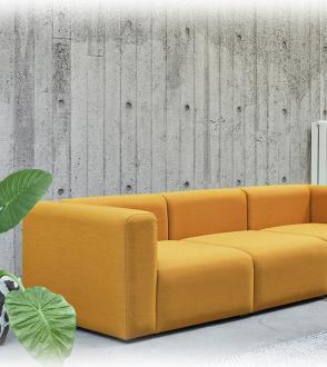 Canapé MAGS 3 places / tissu steelcut trio 446