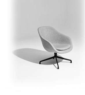 Fauteuil AAL 81 avec coussin d'assise en tissu Remix 123