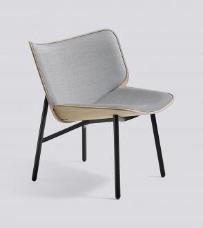 fauteuil dapperpied noir coque chêne -tapissé en srface by hay 120