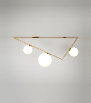 Plafonnier Triangle 2+1 Globe - 1m