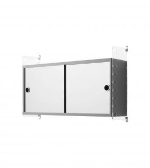 Cabinet 2 portes coulissantes miroir - 78x20cm
