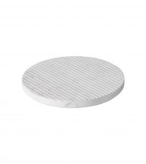 Dessous de plat Groove marble trivet - Diamètre 21,6cm